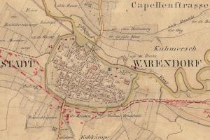 Historische Flurkarte Warendorf